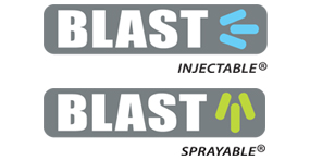 Blast injectable and Sprayable Logos