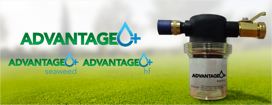 Aquatrols Advantage Plus Soil Surfactant Pellets family of products with an Advantage Plus Applicator