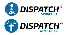 Dispatch Sprayable and Injectable Logos
