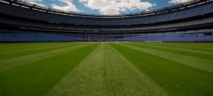 Panoramic picture of baseball field