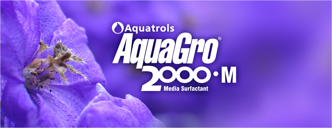 AquaGro 2000 M logo with purple flower
