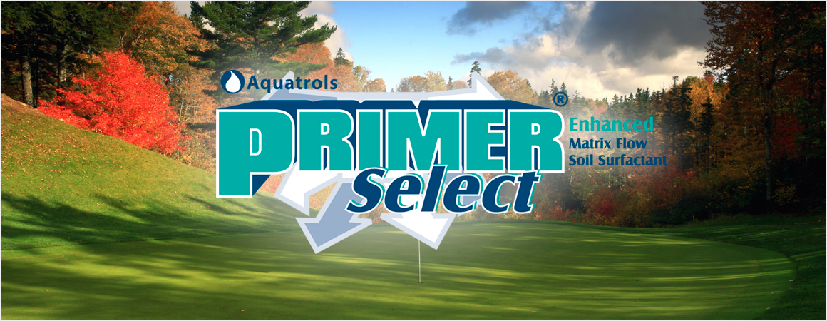 Primer Select logo on golf course